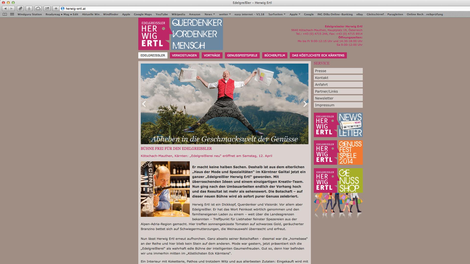 Websit für Edelgreissler Herwig Ertl