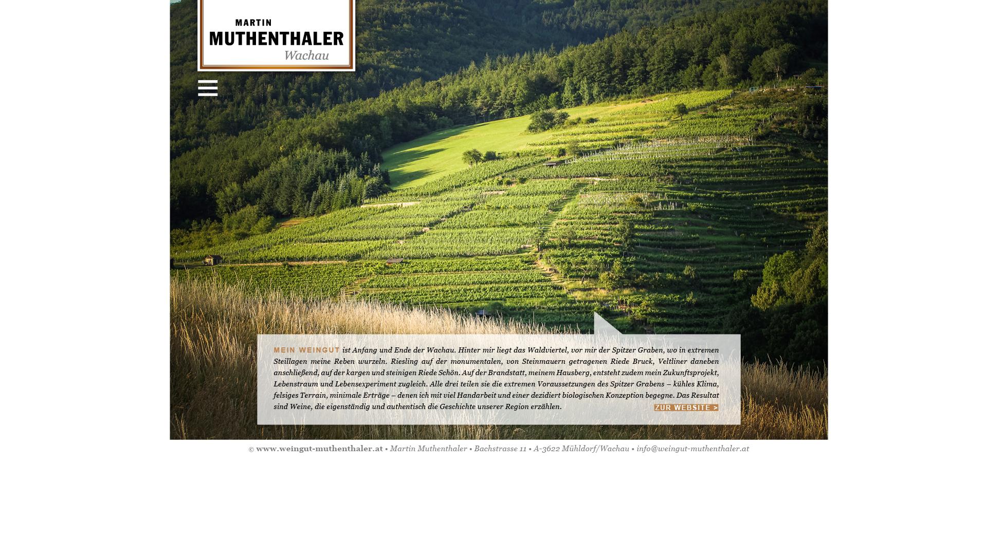 Designentwicklung Logo und Website für Weingut Martin Muthenthaler Wachau