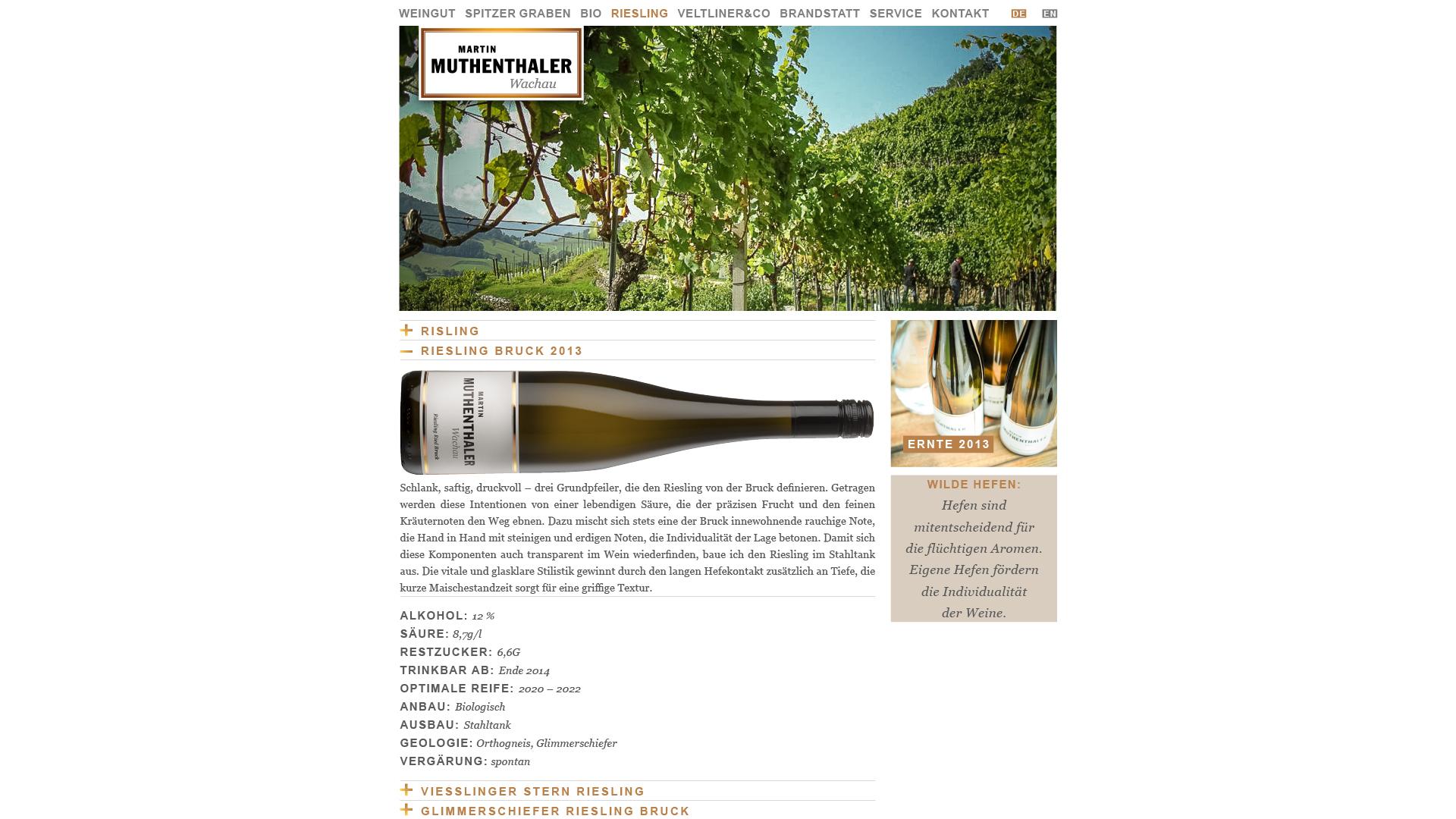 Designentwicklung Logo, Etiketten und Website für Weingut Martin Muthenthaler Wachau