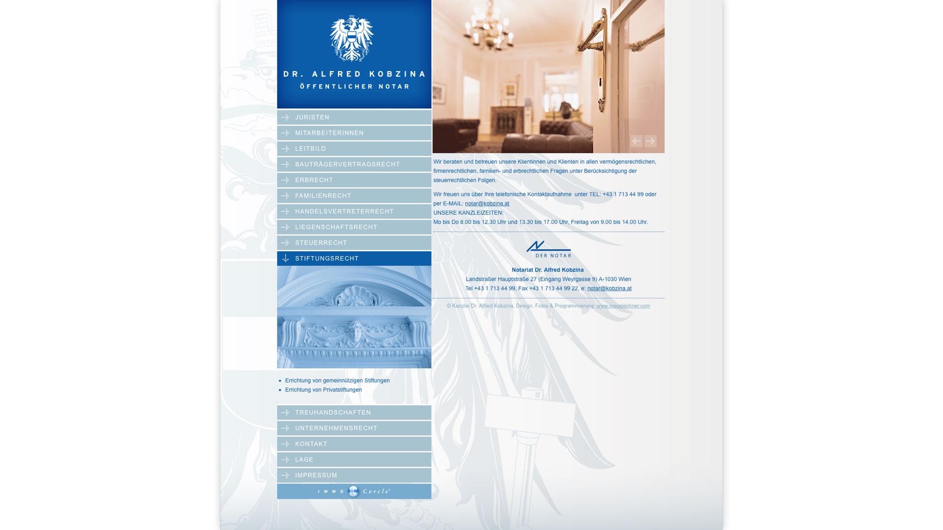 Corporate Design, Webdesign für Notariat Dr. Alfred Kobzina