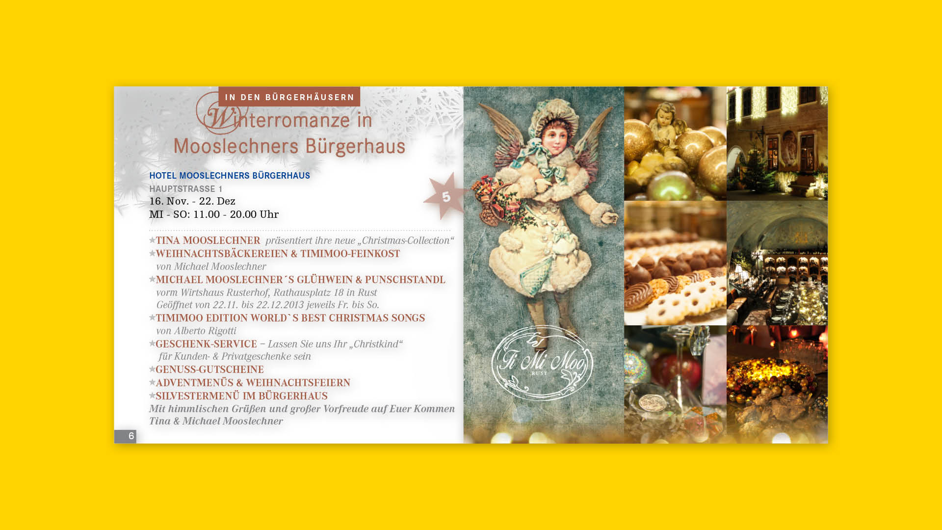 Innenseite Broschüre Ruster Adventmeile